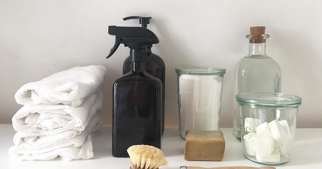 zero waste natural plastic free organic cleaning cleaners homemade